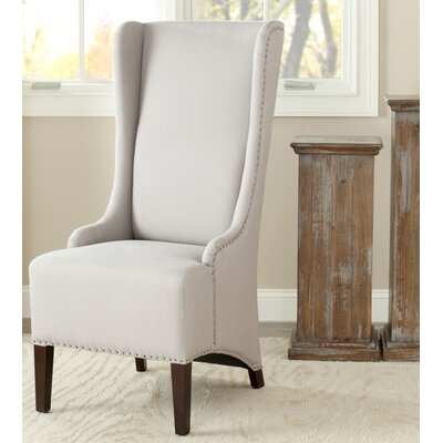 Magnolia Side Chair Upholstery: Taupe with Nailhead Trim
