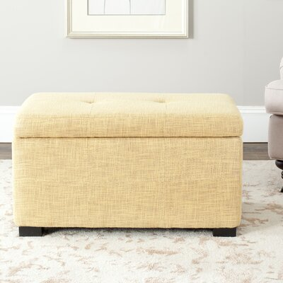 Chrisman Storage Ottoman Upholstery: Pale Yellow