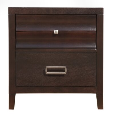 Arnot 2 Drawer Nightstand