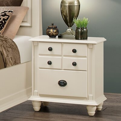 Daley 2 Drawer Night Stand Color: Beige