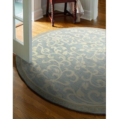 Danforth Hand-Tufted Light Blue Area Rug Rug Size: Round 8