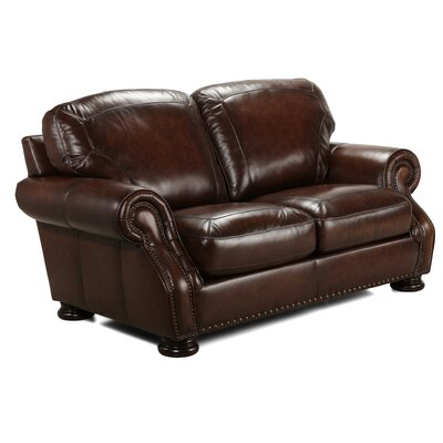 Ranold Leather Loveseat
