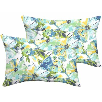 Shoffner Floral Indoor/Outdoor Lumbar Pillow
