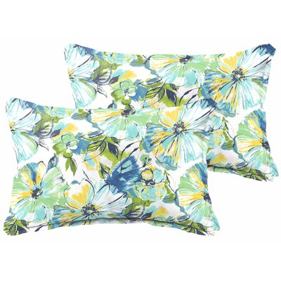 Shoffner Floral Fade-Resistant Indoor/Outdoor Lumbar Pillow
