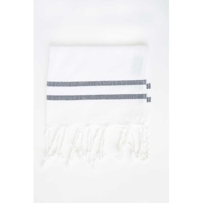 Sumner Stripe Hand Towel (Set of 2) Color: White/Black