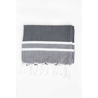 Sumner Stripe Hand Towel (Set of 2) Color: Black/White