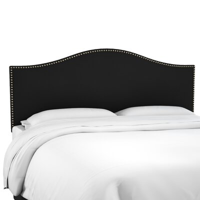 Anncroft Velvet Upholstered Panel Headboard Size: California King, Upholstery: Black