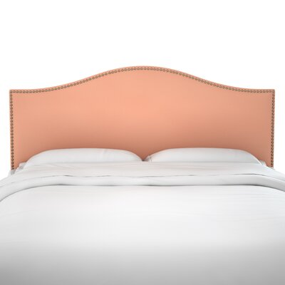 Anncroft Velvet Upholstered Panel Headboard Size: Queen, Upholstery: Papaya