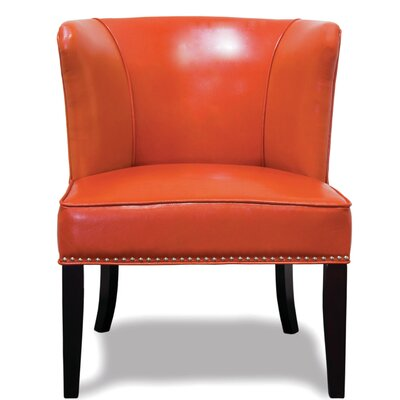 Banderas Wingback Slipper Chair (Set of 2) Upholstery: Orange