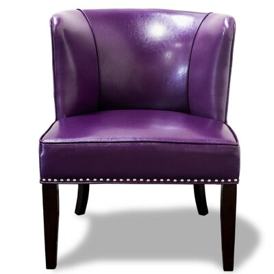 Banderas Wingback Slipper Chair (Set of 2) (Set of 2) Upholstery: Violet