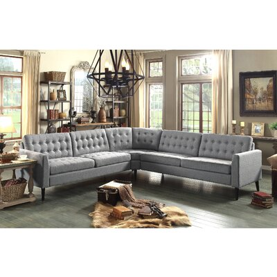 Starner Sectional Collection Upholstery: Gray