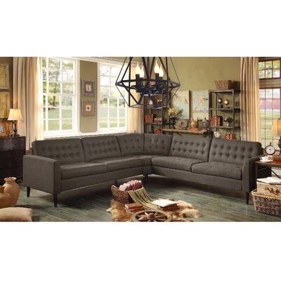 Starner Sectional Collection Upholstery: Wheat