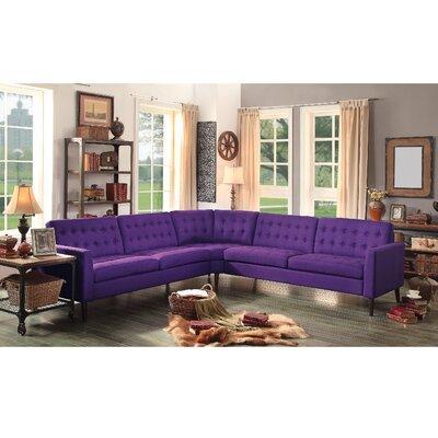 Starner Sectional Upholstery: Radiant Violet