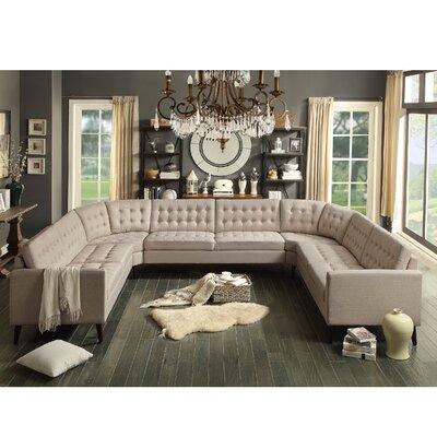 Alderbrook Sectional Upholstery: Beige