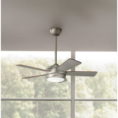 Danesfield 42 LED 5-Blade Ceiling Fan Finish: Brushed Nickel with Silver Blades