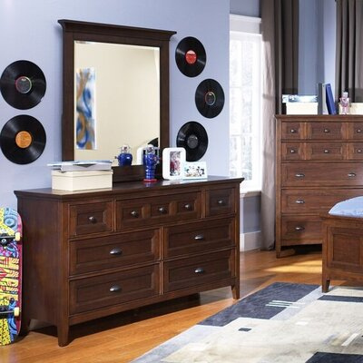 Diana 7 Drawer Dresser with Mirror