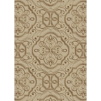 Edmond Brown/Gray Area Rug Rug Size: 5 x 8