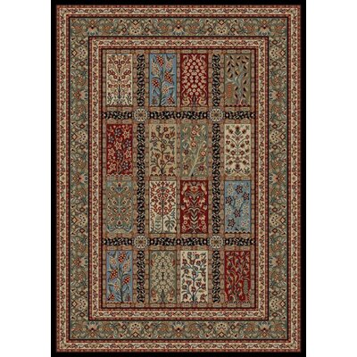 Bluffridge Red/Beige Area Rug Rug Size: 5 x 8