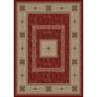 Raneal Ancient Empire Red Area Rug Rug Size: 5 x 8