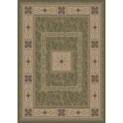 Raneal Ancient Empire Green Area Rug Rug Size: 8 x 10