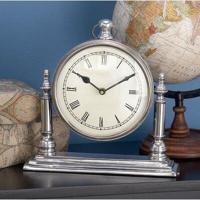 Aluminum Mantel Clock