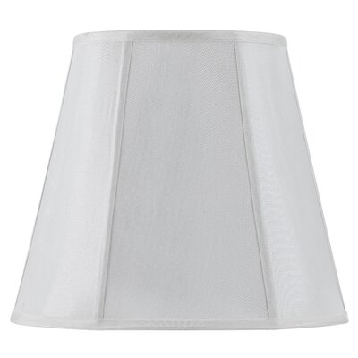 Piped Deep 16 Fabric Empire Lamp Shade Finish: White