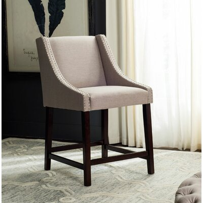 Dunigan 39.5 Bar Stool Upholstery: Taupe