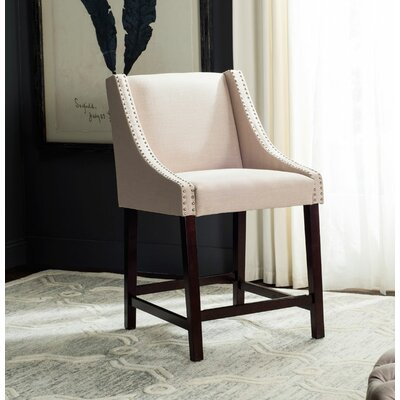 Dunigan 39.5 Bar Stool Upholstery: Beige