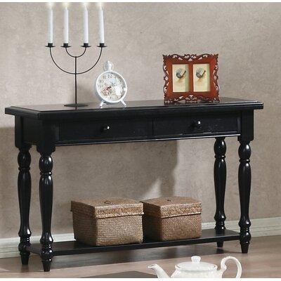 Ivesdale Console Table Finish: Ebony