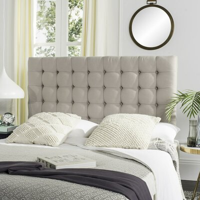 Lyttleburye Upholstered Panel Headboard Size: Queen, Upholstery: Taupe