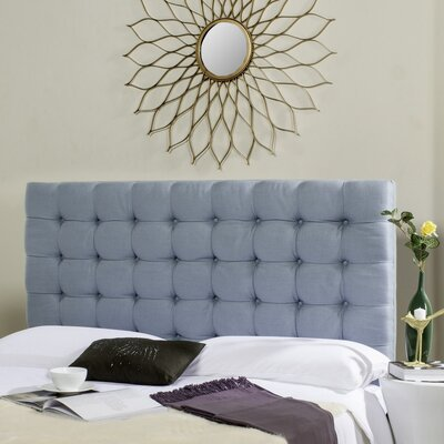 Lyttleburye Upholstered Panel Headboard Size: Queen, Upholstery: Slate Blue