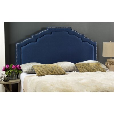 Parsonsfield Upholstered Headboard Size: Queen, Upholstery: Blue
