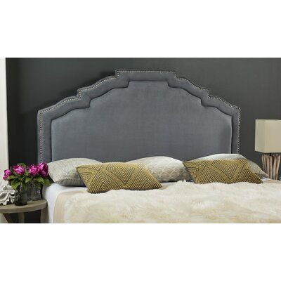 Parsonsfield Upholstered Headboard Size: King, Upholstery: Gray