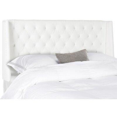 Trenton Upholstered Wingback Headboard Size: Full, Upholstery: White