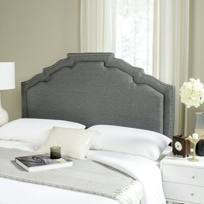 Parsonsfield Upholstered Panel�Headboard Size: Full, Color: Grey, Upholstery: Linen