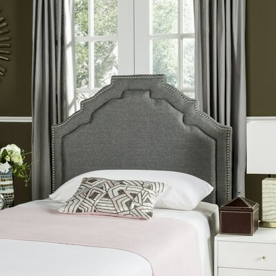 Parsonsfield Upholstered Panel�Headboard Size: Full, Color: Navy, Upholstery: Linen