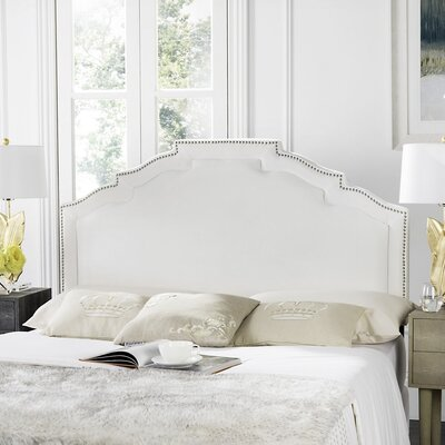 Parsonsfield Upholstered Panel�Headboard Size: Full, Color: White, Upholstery: Linen