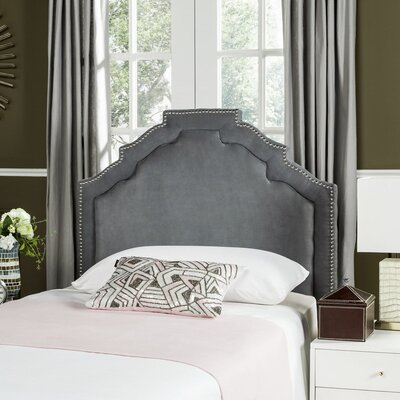 Parsonsfield Upholstered Panel�Headboard Color: Light Grey, Size: Twin, Upholstery: Linen