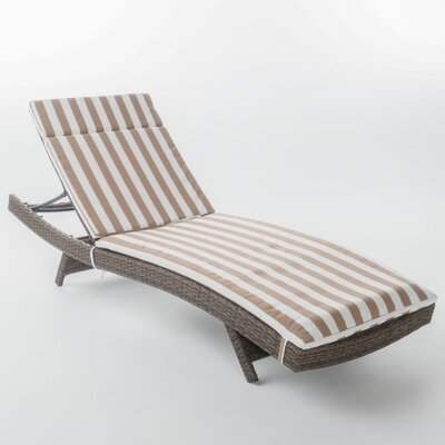 Roma Outdoor Wicker Lounge with Cushion
