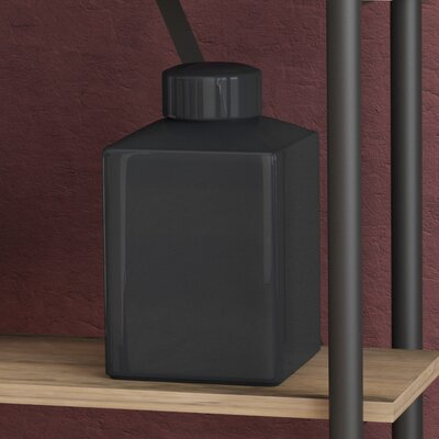 Eudora Black Rectangular Vase