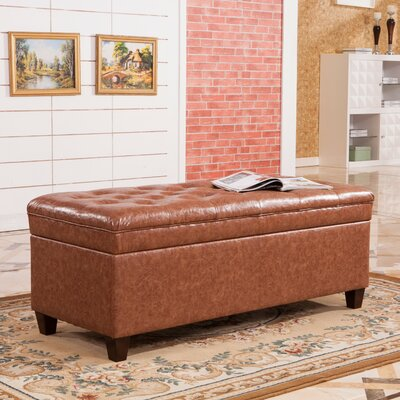 Dail Storage Bedroom Bench Color: Saddle Brown