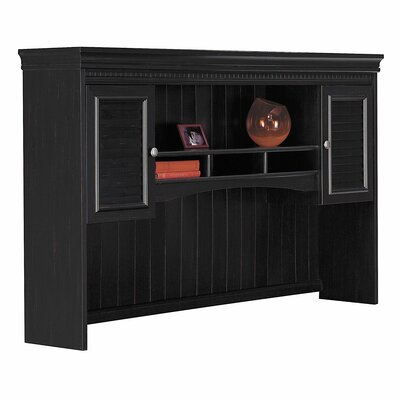 Oakridge 38.25 H x 60.38 W Desk Hutch Color: Black