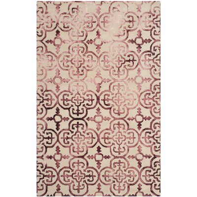 Naples Park Beige/Maroon Area Rug Rug Size: Rectangle 4 x 6