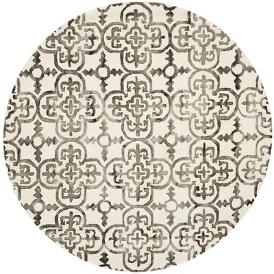 Naples Park Ivory/Brown Area Rug Rug Size: Rectangle 6 x 9