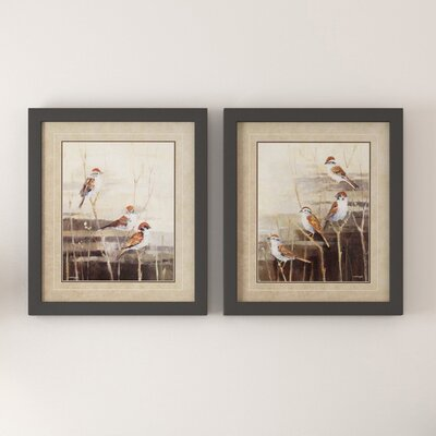 'Evening Sanctuary' 2 Piece Framed Graphic Art Set