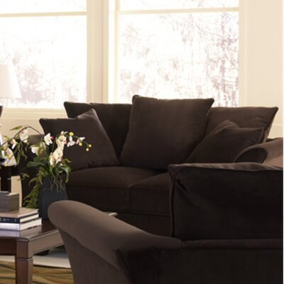 Carnella Loveseat Upholstery: Brown