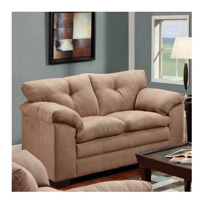 Simmons Upholstery Otto Microfiber Loveseat Fabric: Luna Mineral