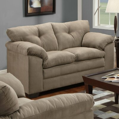 Simmons Upholstery Otto Microfiber Loveseat Fabric: Luna Latte