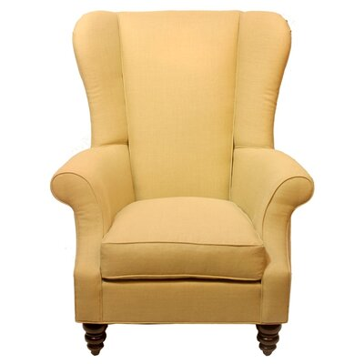 Bartlett Linen Wing back Chair Body Fabric: Ireland Charcoal