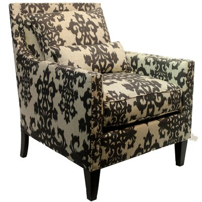 Alber Upholstered Armchair Body Fabric: Casablanca Smoke Ivory